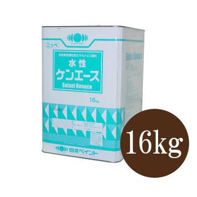 【送料無料】 ニッペ 水性ケンエース つや消し ブラック [16kg] 日本ペイント