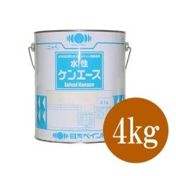 【エントリーでポイント5倍】 ニッペ 水性ケンエース つや消し パーマネントエロー [4kg] 日本ペイント