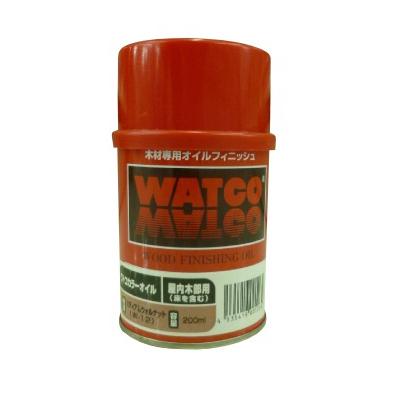 マスキングテーププレゼント対象商品 英国生まれの木材用塗料 カラーハーモニー ☆期間限定☆はけ付き ワトコオイル ミディアムウォルナット 記念日 W-12 オイルフィニッシュ 気質アップ 200ml 建具 壁面 家具 WATOCO