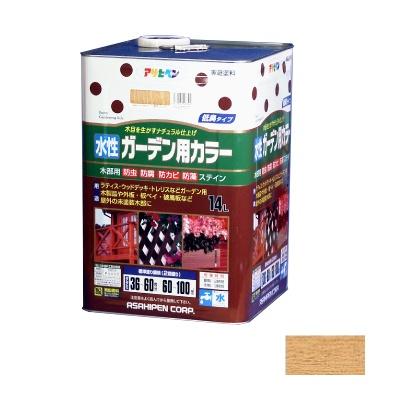 【送料無料】 アサヒペン 水性ガーデン用カラー 透明(クリヤ) 14L [水性木部用塗料]