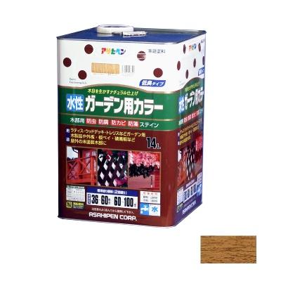 【送料無料】 アサヒペン 水性ガーデン用カラー オーク 14L [水性木部用塗料]