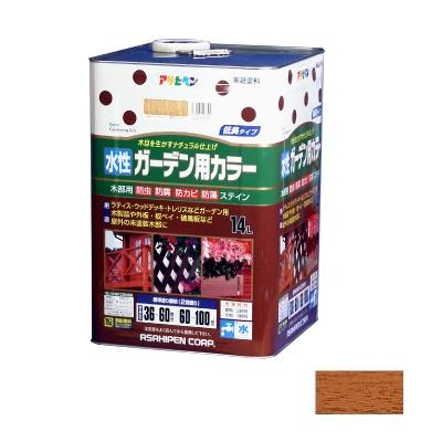 【送料無料】 アサヒペン 水性ガーデン用カラー ライトオーク 14L [水性木部用塗料]