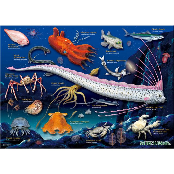 ミュージアムジグソーパズル・A3サイズ・720ピース・深海生物/パズル絵柄
