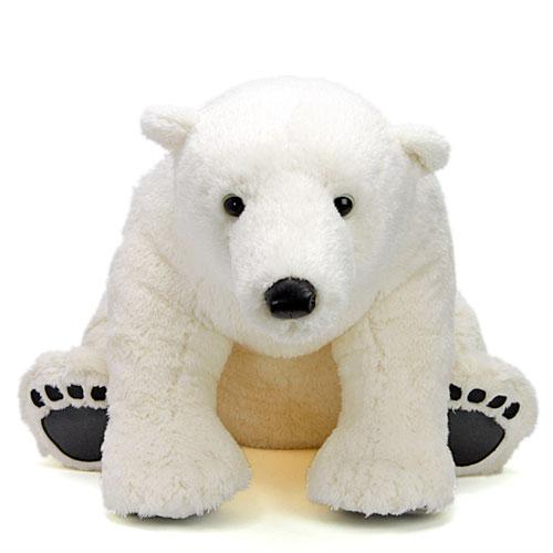 白クマ ぬいぐるみ ホッキョクグマ LLサイズ リアルアニマルファミリー