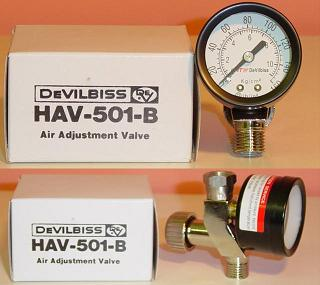 HAV-501-B Devilbiss 데빌 나사 게이지 수중 에어 조정 밸브 HAV-501-B수중 압력계