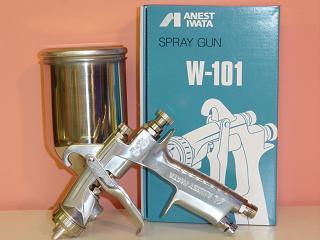 ANEST IWATA アネスト 이와타 W-101 소형 스프레이건 시리즈 1.0 ~ 1.8 구경 중력식 컵은 별매입니다. アネスト 이와타 켐 프 벨 CAMPBELL에 어 스프레이건