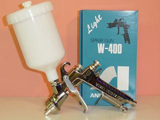 【W-400】【専用カップ付】 ANEST IWATA アネスト岩田W-400シリーズセンターカップスプレーガン(カップ付)付属カップPCG-6P-M(600ml)アネスト岩田キャンベル CAMPBELL
