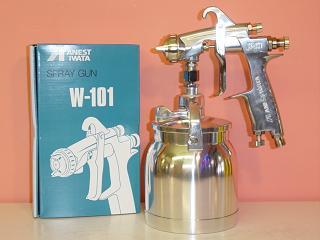 【W-101-S】 ANEST IWATAアネスト岩田W-101小型スプレーガン1.0~1.8口径 吸上式・下カップカップは別売です。アネスト岩田キャンベル CAMPBELL エアースプレーガン