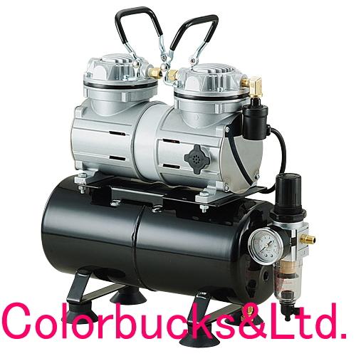 【APC006D】AIRTEX エアテックスエアコンプレッサー3.5Lエアータンク付、水抜きレギュレーター付エアーテックス エアブラシ用コンプレッサー