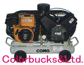 【PLUE22C-10】(旧 PLUE22B-10) アネスト岩田 オイル式エアーコンプレッサー 2.2kW(3馬力) COMGシリーズ タンクマウントタイプ ガソリンエンジン アネスト岩田キャンベル