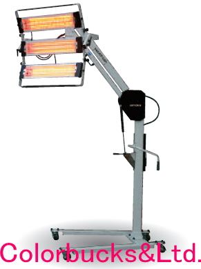 andex アンデックス塗装乾燥機 ヒータップシリーズスタンド式ヒーター type43灯式・セパレート型・ダンパー式ランプが5種類から選べますヒートアップ