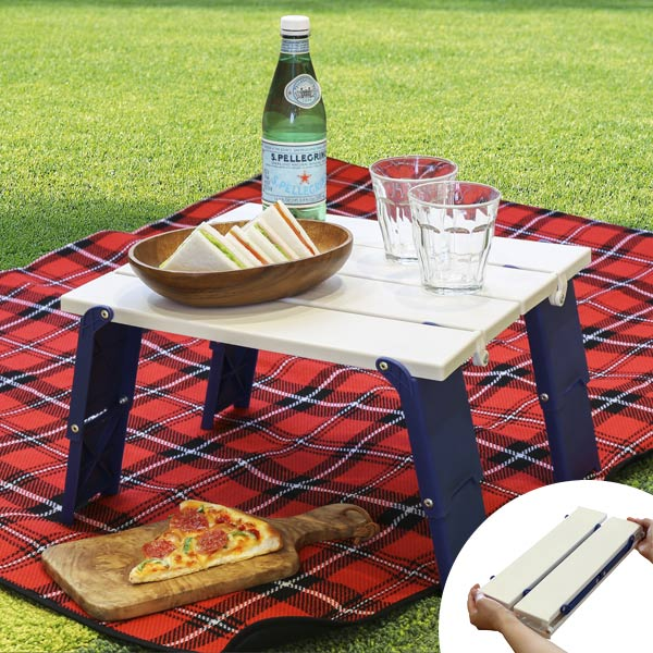 Picnic Table Compact Folding Outdoor Simple Carrying Around Barbecue Park Outdoors Festival Beach Pool Camping Height Adjustment