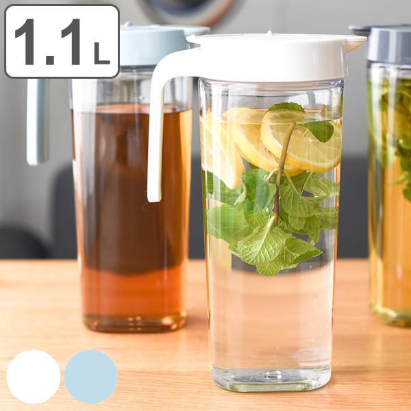 使いやすくオシャレなデザインのコンパクトピッチャー 格安 価格でご提供いたします 冷水筒 1.1L 麦茶ポット ピッチャー お茶ポット ドリンクビオ 横置き 耐熱 ワンプッシュ プラスチック 水差し 熱湯 麦茶 3980円以上送料無料 白 ジャグ 付与 洗いやすい ポット 冷水ポット 冷茶 ドアポケット ドリンクピッチャー