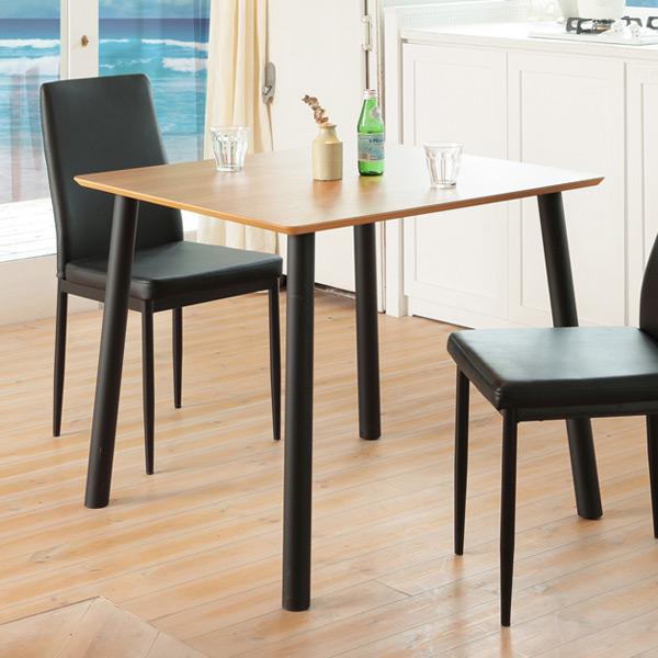 ダイニングテーブル 正方形 カジュアルスタイル ALUBIA 80cm角型 ( 送料無料 木目調 コーヒーテーブル ソファサイド テーブル リビングテーブル 二人用 二人掛け )【4500円以上送料無料】