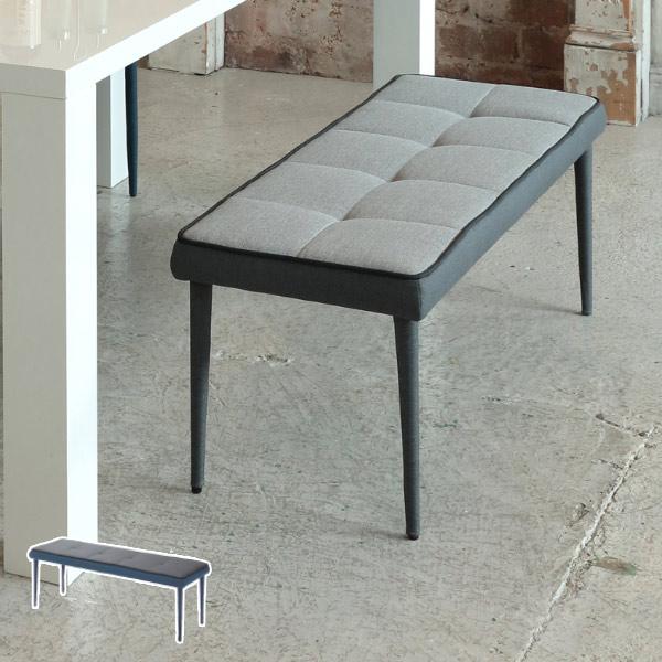 ベンチ SERIO 幅110cm ダイニングベンチ 椅子 ( 送料無料 ダイニングチェア 椅子 布張り 背もたれなし ソファー イス いす チェア チェアー 食卓椅子 リビングチェア ファブリック 布製 2人掛け )【3980円以上送料無料】
