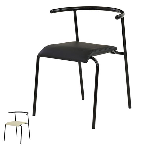 チェア 座面高44cm スタッキングチェア 積み重ね オフィス 椅子 イス ソフトレザー ( 送料無料 いす ダイニングチェア オフィスチェア ミーティングチェア 食卓椅子 会議椅子 会議イス ダイニング 食卓 打合せ )【3980円以上送料無料】