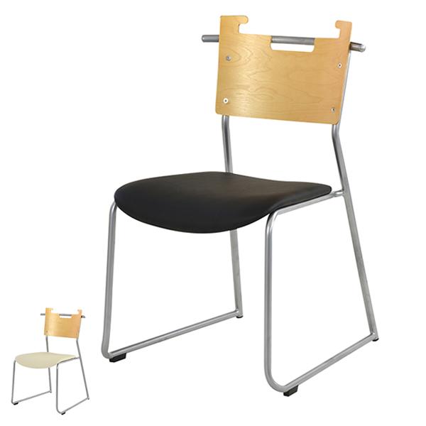チェア 座面高44cm スタッキングチェア 積み重ね オフィス 椅子 イス ソフトレザー 木製 ( 送料無料 いす ダイニングチェア オフィスチェア ミーティングチェア リビングチェア デザインチェア 食卓椅子 肘付き 会議 おしゃれ )【3980円以上送料無料】