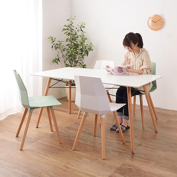 ダイニングテーブル 幅150cm テーブル 食卓テーブル 4人用 ドゥエルレッグベース スチール 木製 長方形 角型 おしゃれ ( 送料無料 木製テーブル 食卓机 4人掛け 150 リビングテーブル 北欧 4人 ダイニング 机 )【3980円以上送料無料】