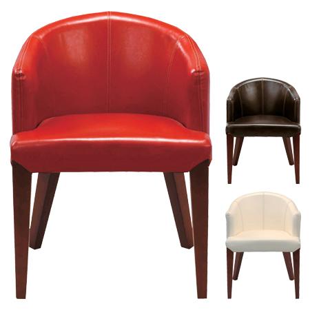ダイニングチェア 椅子 ラウンドバック 天然木 ソフトレザー ( 送料無料 チェアー いす ソファ 1人掛け 小型 ミニ ) 【4500円以上送料無料】
