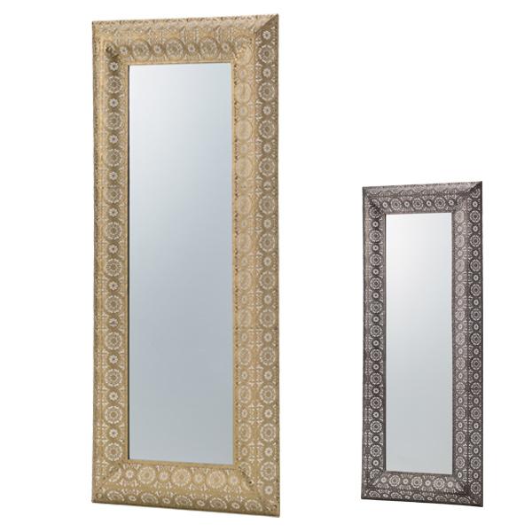 壁掛け 鏡 ウォールミラー 48.5x117cm ( 送料無料 ミラー 飛散防止 壁掛けミラー かがみ カガミ 飛散防止ミラー 額縁 姿見 壁かけミラー 壁掛け鏡 デザインミラー )【4500円以上送料無料】