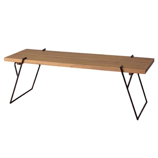 ローテーブル 天然木 センターテーブル アイアンフレーム 幅120cm ( 送料無料 センターテーブル リビングテーブル コーヒーテーブル 木製 ちゃぶ台 アイアン ナチュラル 新生活 スリム 北欧 シンプル おしゃれ )【4500円以上送料無料】