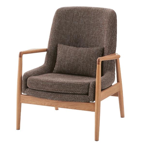 ソファ 1人掛け 天然木 北欧風 フリック 幅75cm ( 送料無料 ソファー 椅子 イス チェア フロアーソファ ソファチェア リビングチェア ファブリック 布張り 布製 一人掛け パーソナルチェア 肘付き )【4500円以上送料無料】