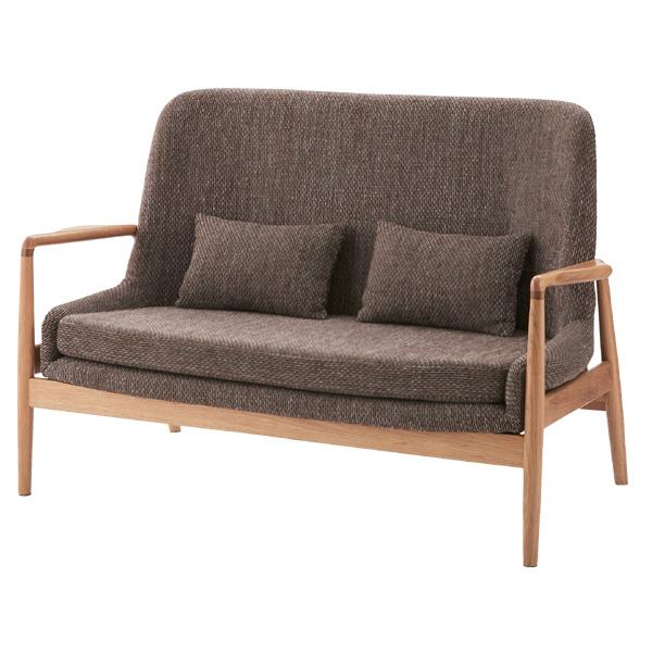 ソファ 2人掛け 天然木 北欧風 フリック 幅136cm ( 送料無料 ソファー 椅子 イス チェア フロアーソファ ソファチェア リビングチェア ファブリック 布張り 布製 二人掛け 肘付き )【3980円以上送料無料】