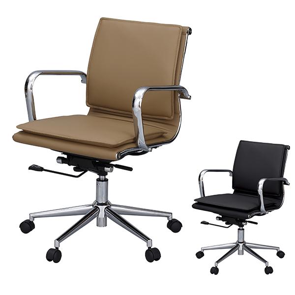 デスクチェア オフィスチェアー ソフトレザー ロッキング機能付 ( 送料無料 チェア チェアー いす イス 椅子 パソコンチェア オフィスチェア レザー PCチェア ワークチェア 学習椅子 キャスター 肘掛け )【4500円以上送料無料】