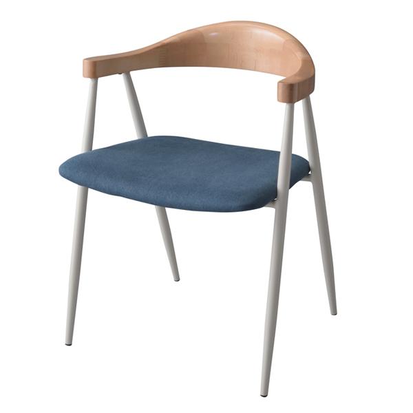 チェア アームチェア 木製背もたれ 座面高44cm ( 送料無料 ダイニングチェア いす 椅子 ダイニングチェア いす 食卓椅子 リビングチェア ファブリック スチールフレーム 布製 )【3980円以上送料無料】