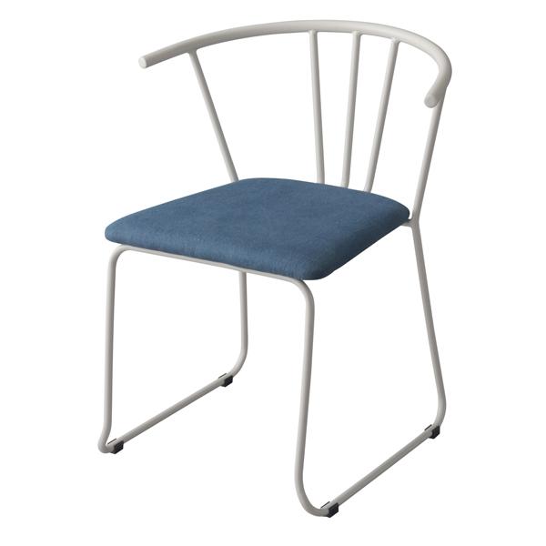 チェア アームチェア スチール製背もたれ 座面高45cm ( 送料無料 ダイニングチェア いす 椅子 ダイニングチェア いす 食卓椅子 リビングチェア ファブリック スチールフレーム 布製 )【3980円以上送料無料】