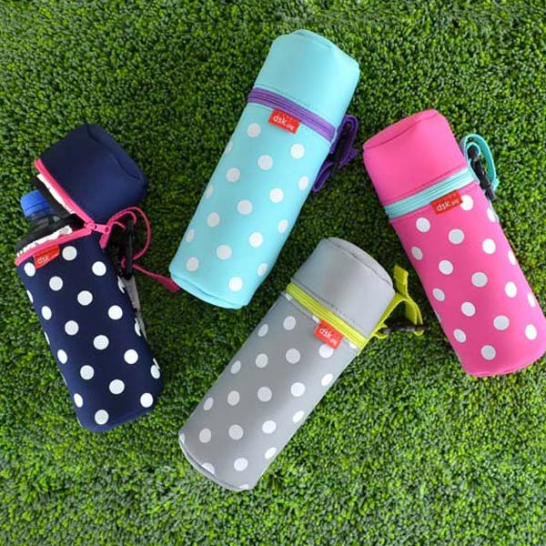■dsk for 500 ml of stock limit, arrivalless ■ plastic bottle case washable cool bag dots