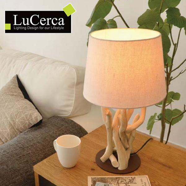 テーブルライト ドリフトウッド 1灯 LuCerca ( 送料無料 照明 おしゃれ 北欧 led ダイニング リビング 寝室 間接照明 卓上照明 テーブルランプ 照明 ライト 木製 流木 )【4500円以上送料無料】