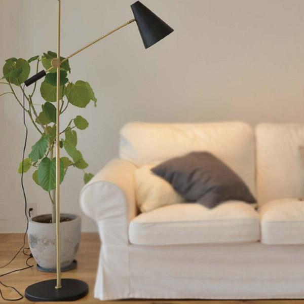 フロアライト ブルック 1灯 LuCerca ( 送料無料 照明 おしゃれ 北欧 スタンドライト フロアランプ 照明器具 led 間接照明 照明 ライト リビング 寝室 インダストリアル ブルックリン )【4500円以上送料無料】