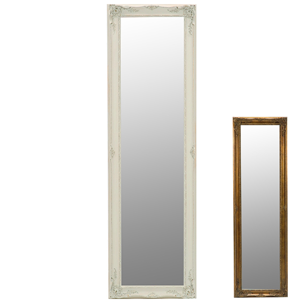 鏡 ミラー スタンドミラー アンティーク調フレーム 50x165cm ( 送料無料 全身鏡 姿見 スタンドミラー かがみ 全身ミラー 玄関 リビング 洗面所 クローゼット 身だしなみ )【4500円以上送料無料】
