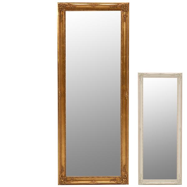鏡 ミラー スタンドミラー アンティーク調フレーム 65x165cm ( 送料無料 全身鏡 姿見 スタンドミラー かがみ 全身ミラー 玄関 リビング 洗面所 クローゼット 身だしなみ )【4500円以上送料無料】