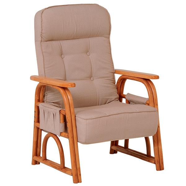 籐 ラタン ギア付き座椅子 リクライニング ( 送料無料 チェア 椅子 イス 背もたれあり 籐家具 籐製家具 腰掛け リビング ローチェア いす イス )【4500円以上送料無料】