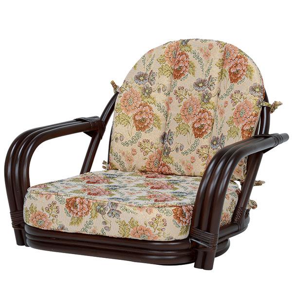 籐 ラタン 座面高16cm 回転座椅子 ( 送料無料 座椅子 チェア 腰掛 籐家具 籐製家具 回転椅子 腰掛け 回転式チェア 回転 リビング ローチェア いす イス )【4500円以上送料無料】