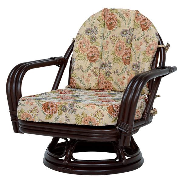 籐 ラタン 座面高26cm 回転座椅子 ( 送料無料 座椅子 チェア 腰掛 籐家具 籐製家具 回転椅子 腰掛け 回転式チェア 回転 リビング ミドルチェア いす イス )【4500円以上送料無料】
