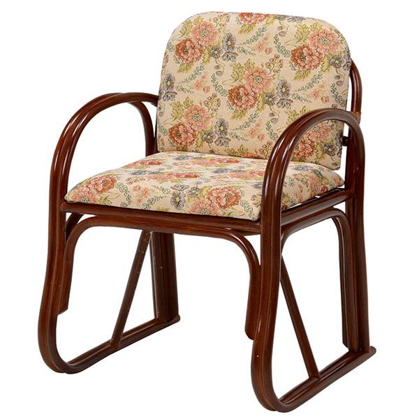 籐 ラタン 座椅子 楽々座椅子 ハイタイプ ( 送料無料 椅子 いす フロアーチェア イス やわらか クッション 肘掛 チェア 座いす ローチェア アームチェア )【3980円以上送料無料】