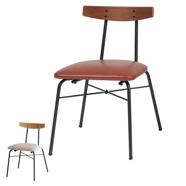 チェア anthem 座面高44cm ヴィンテージ調 椅子 ダイニングチェア ( 送料無料 イス いす チェアー 背もたれ あり アンティーク スチール フレーム 合成皮革 パソコンチェア ワークチェア PCチェア 木製 )【3980円以上送料無料】