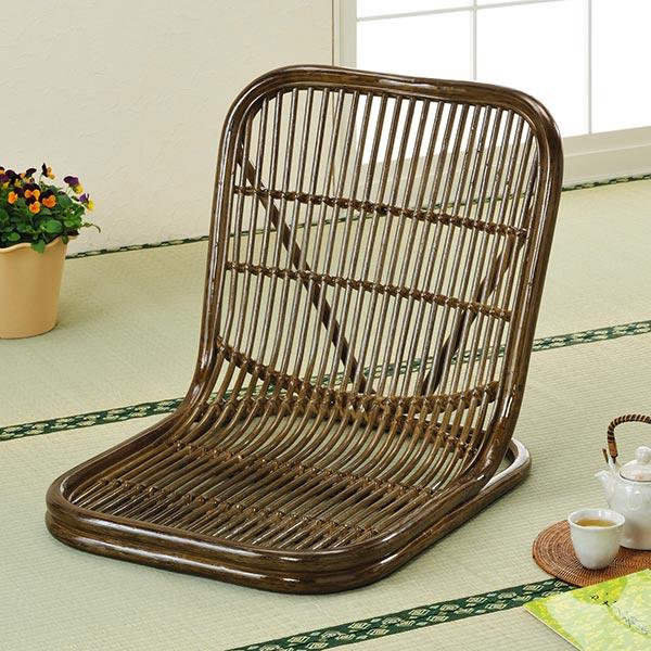 ラタンチェア 籐 座椅子 和室用 幅55cm ( ラタン 送料無料 イス チェア 座いす アジアン ) 【3980円以上送料無料】