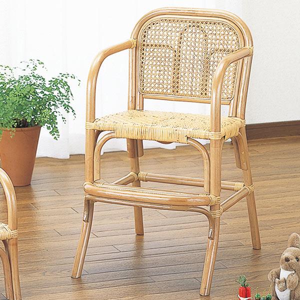 籐〔ラタン〕 子供イス ハイタイプ 送料無料( 子供部屋 木製 ベビーチェア 椅子 いす チェアー 子供用 こども用 子ども用 キッズ ) 【4500円以上送料無料】