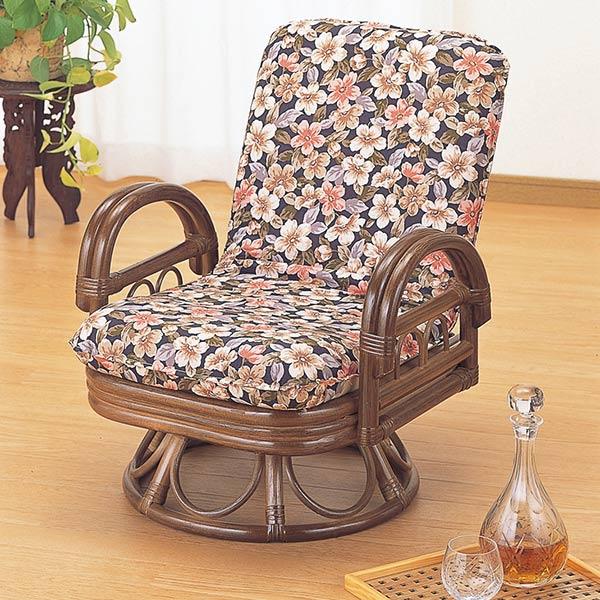 ラタンチェア リクライニング 座椅子 籐家具 座面高30cm ( 送料無料 椅子 イス アジアン ) 【3980円以上送料無料】