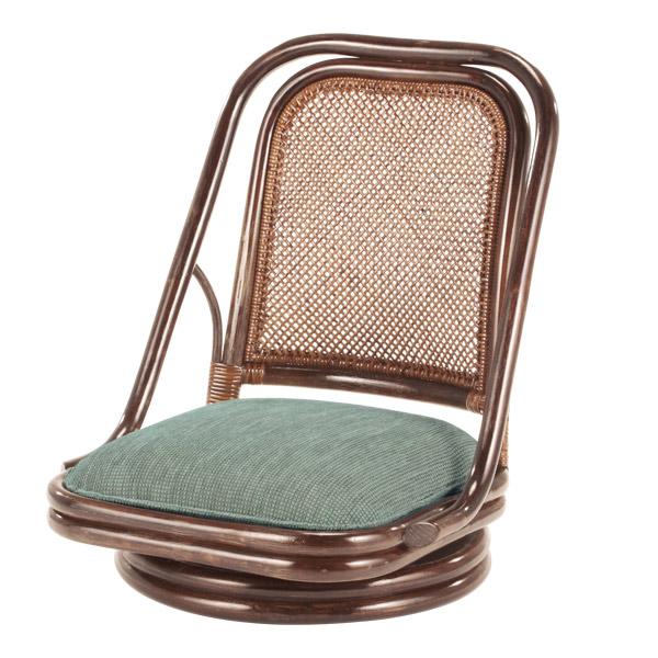 籐 回転座椅子 クッション付 ラタン製 座面高18cm ( 送料無料 ラタン家具 アジアン家具 座椅子 座いす 椅子 イス いす ラタン アジアン リゾート クッション 正座いす ) 【4500円以上送料無料】
