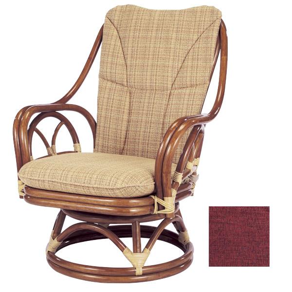ラタンチェア 回転座椅子 背もたれクッション付 シィーベルチェア 228AF 座面高38cm ( 送料無料 ラタン家具 アジアン家具 チェア 座椅子 シーベルチェア シィーベルチェアー 座いす 椅子 イス ) 【4500円以上送料無料】