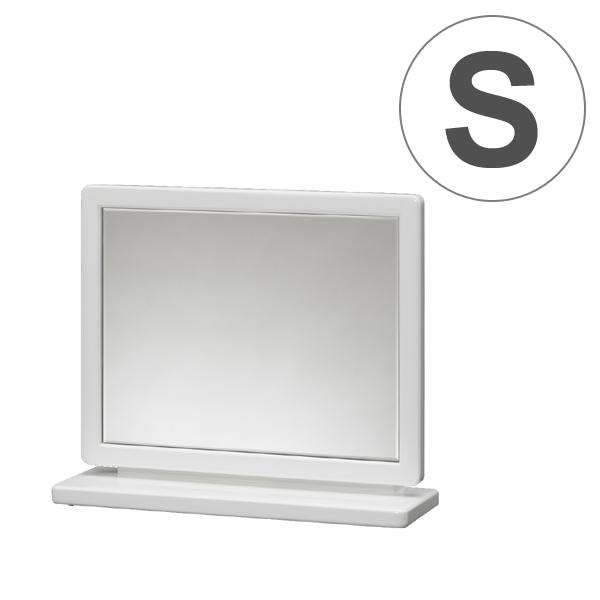 卓上ミラー 上置ミラー クレア 幅45cm ( 送料無料 ミラー 鏡 木製 卓上 スタンドミラー コンパクトミラー メイクアップ ドレッサー コンパクト 木製フレーム 高級感 ホワイト シンプル )【4500円以上送料無料】