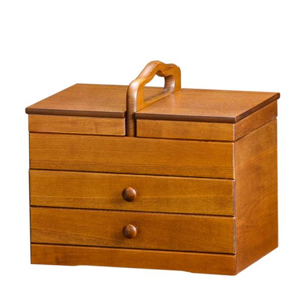 ソーイングボックス 木製 引出し付 あおい 幅32.5cm ( 送料無料 国産 日本製 裁縫 収納箱 ソーイングケース )【4500円以上送料無料】