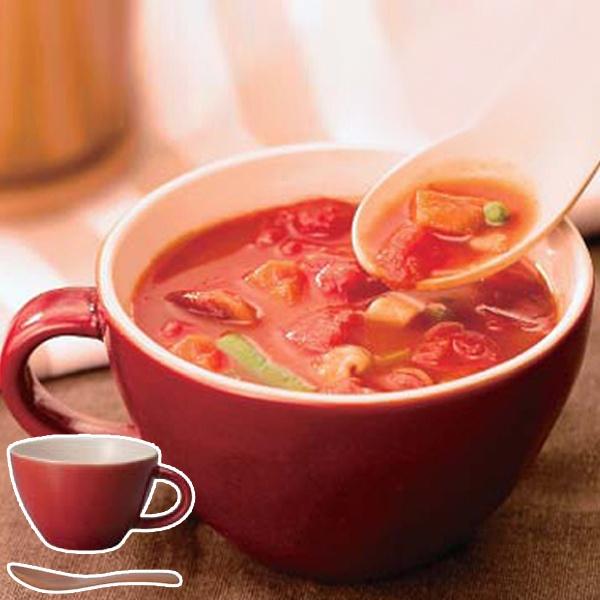 あたたかみのある風合いのスープカップであったかスープを キントー お気にいる KINTO ほっくり 最新号掲載アイテム スープカップ 3980円以上送料無料 レッド