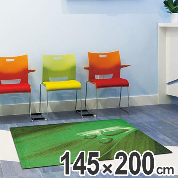 玄関マット Office & Decor Leaf Drop  145×200cm ( 送料無料 業務用 屋内 建物内 オフィス 事務所 来客用 デザイン オフィス&デコ おしゃれ )【4500円以上送料無料】