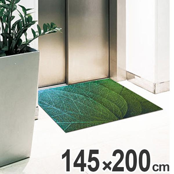 玄関マット Office & Decor Green Veins 145×200cm ( 送料無料 業務用 屋内 建物内 オフィス 事務所 来客用 デザイン オフィス&デコ おしゃれ )【4500円以上送料無料】